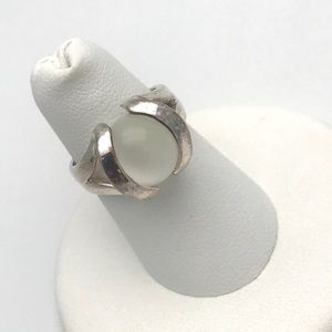 Sterling Silver Catseye Orb Interchangeable Ring